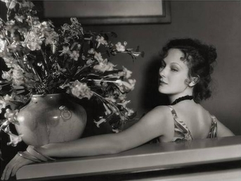 Dorothy Jordan- Vase with Flowers, 1930 by George Hurrell